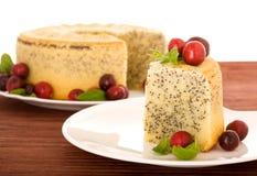 蛋糕罂粟种子 免版税库存照片