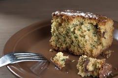 蛋糕自创蜂蜜 免版税库存图片