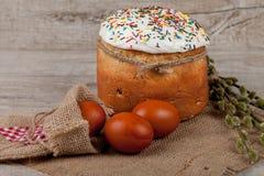 蛋糕色的复活节彩蛋 免版税库存图片