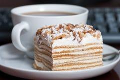 蛋糕茶 库存照片