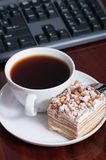 蛋糕茶 免版税库存照片