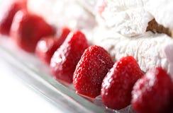 蛋糕草莓 免版税库存图片