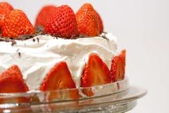 蛋糕草莓 图库摄影