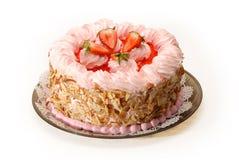 蛋糕草莓 免版税图库摄影
