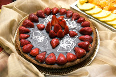 蛋糕草莓 免版税库存照片