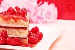 蛋糕莓海绵 免版税库存图片