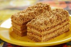 蛋糕蜂蜜 库存图片