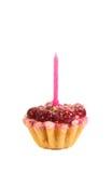 蛋糕蜡烛樱桃 库存照片