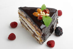 蛋糕螺母 图库摄影