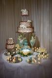 蛋糕表婚礼 免版税库存照片