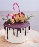 蛋糕装饰用圣诞节曲奇饼 免版税图库摄影