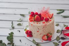 蛋糕装饰用草莓1001 库存照片