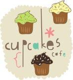 蛋糕设计要素 库存图片