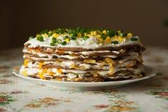 蛋糕设计要素肝脏 免版税图库摄影