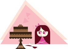蛋糕诱惑 库存照片