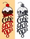 蛋糕象征 图库摄影