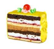 蛋糕部分 库存图片