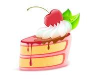 蛋糕部分 免版税库存图片