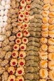 蛋糕酥皮点心在面包店典型从意大利 免版税库存照片