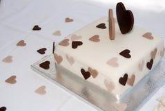 蛋糕重点婚礼 库存照片