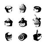 蛋糕集合。传染媒介 免版税库存照片