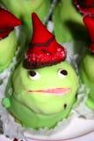 蛋糕青蛙 库存图片