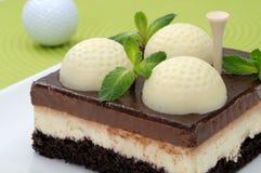 蛋糕高尔夫球 库存图片