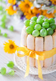 蛋糕鹅莓 免版税库存照片