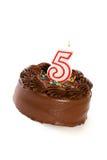 蛋糕:结块庆祝第五个生日 库存图片