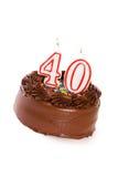 蛋糕:结块庆祝第40个生日 库存图片