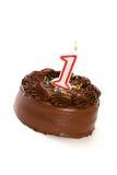 蛋糕:结块庆祝第1个生日 免版税图库摄影