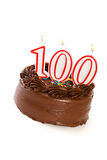 蛋糕:结块庆祝100th生日 免版税库存照片