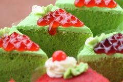 蛋糕绿色 库存图片