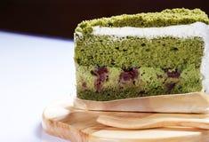 蛋糕绿茶 免版税图库摄影