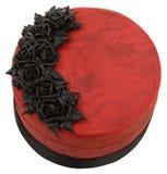蛋糕goth红色天鹅绒 免版税库存图片