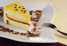 蛋糕passionfruit 免版税库存图片