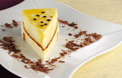 蛋糕passionfruit 库存图片