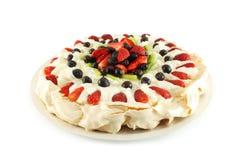 蛋糕Pavlova 图库摄影