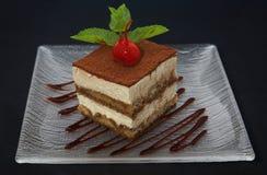 蛋糕tiramisu 免版税库存图片