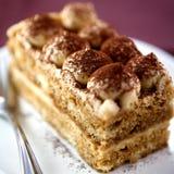 蛋糕tiramisu 免版税库存照片