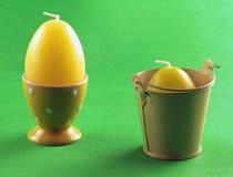 蛋蜡烛 免版税库存照片