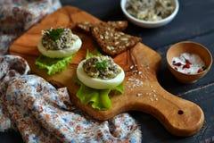 蛋酿蘑菇 免版税库存照片