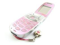 蛤壳状机件现代电话 库存图片