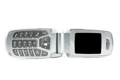 蛤壳状机件现代电话 免版税图库摄影