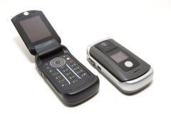 蛤壳状机件移动电话技术 图库摄影