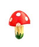 蛤蟆菌伞形毒蕈muscaria蘑菇磁性deco 免版税库存图片