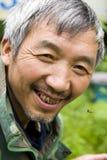 蜂中国人农夫 免版税库存照片
