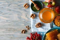 蜂产品静物画 库存图片