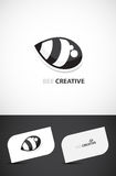 蜂创造性的设计徽标 库存图片