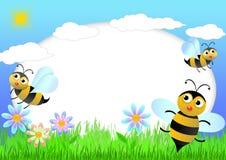 蜂剪贴薄 免版税库存照片